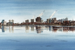Charles River with Cambridge and Boston