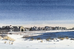 Falmouth Heights with Casino in Winter