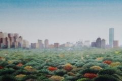 "View of Boston from Cognos Inc., Burlington, Massachusetts 16"" x 48"""