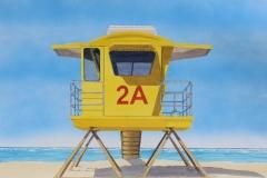"""Lifeguard Tower 2A (Baldwin Beach Park) 21"""" by 27"""""""