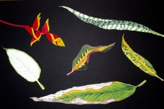 "Watercolor Leaf Cutouts II (Quarantine Art) Late Spring, 2020 20"" by 30"""